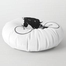 Bigfoot  riding bicycle Floor Pillow