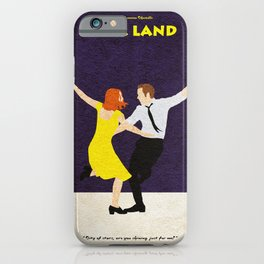 La La Land Alternative Minimalist Film Poster iPhone Case