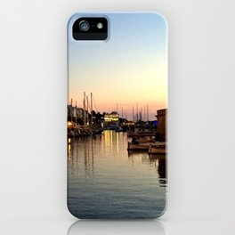 Sunset on Ciutadella Harbor 2 iPhone Case