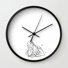 Mommy breast pumping Wall Clock