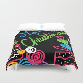 A Doodle Merry Christmas Duvet Cover