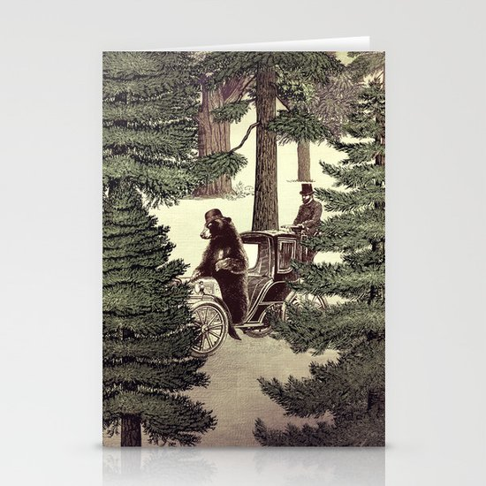 Two Gentlemen in the Forest Stationery Cards