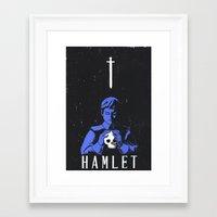hamlet Framed Art Prints featuring Hamlet by Gabbyness
