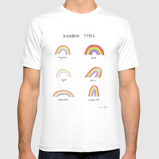 rainbow types T-shirt