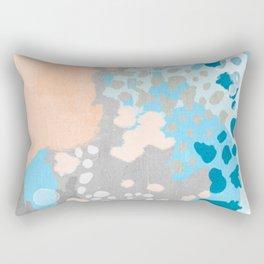 Freya - Painted minimal bright summer palette boho abstract decor minimalist Rectangular Pillow