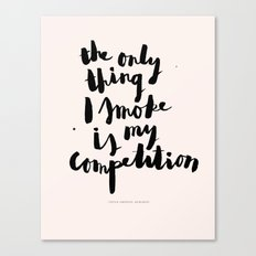 Sophia Amoruso #GIRLBOSS Quote (Pink) Canvas Print