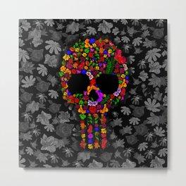 Floral sugar skull iPhone 4 4s 5 5c 6 7, pillow case, mugs and tshirt Metal Print