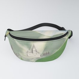 Affiche Travel Poster Lourdes French National Railway SNCF Fanny Pack