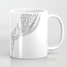 Bull Moose Head Doodle Coffee Mug