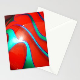 Flaming Red Hot Rod Stationery Cards