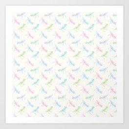 Pastel Grasshoppers Art Print