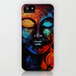 Lord Buddha Abstract Art iPhone Case