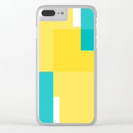 Geomeric background Clear iPhone Case