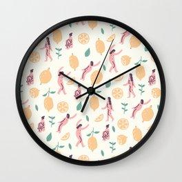 We love lemons Wall Clock