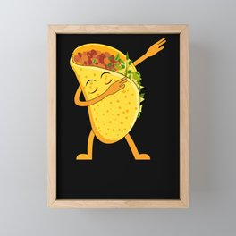 Dabbing Taco Shirt Cinco de Mayo Shirt Framed Mini Art Print