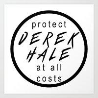 derek hale Art Prints featuring Protect Derek Hale by punkhale