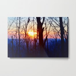 Sunset in the Ozarks Metal Print