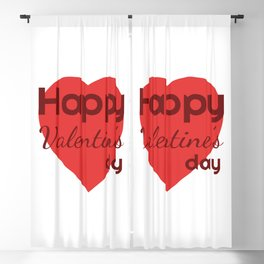 Happy Valentines day Blackout Curtain
