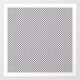 Vintage Violet Polka Dots Art Print