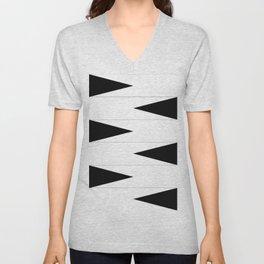 Checkered Triangle Unisex V-Neck
