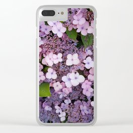 Bain Ave Flowers Clear iPhone Case