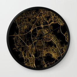Beirut map, Lebanon Wall Clock