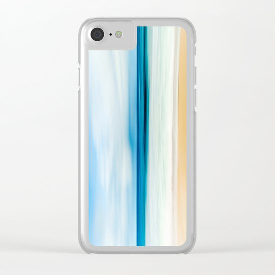 Beautiful Beach View Clear iPhone Case