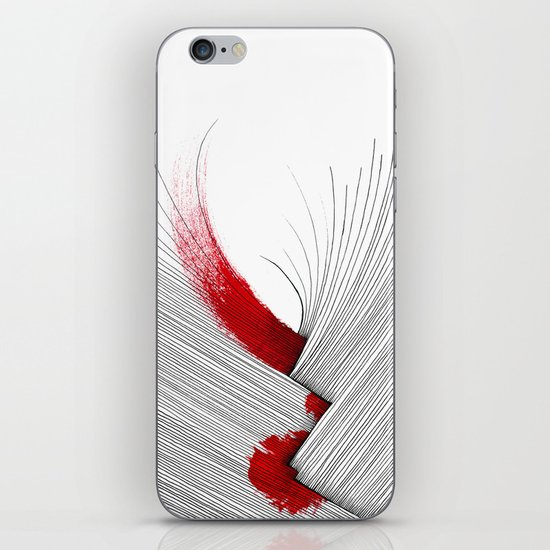 Impact (white version) iPhone & iPod Skin