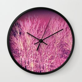 Starry Night in a Magic Forest Wall Clock
