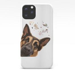 Curious German Shepherd Dog iPhone Case
