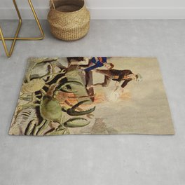 Giant crabs attack Rug