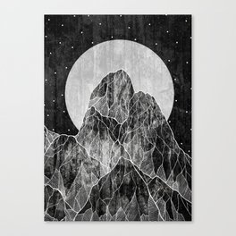 The Lone peaks of the moon Canvas Print