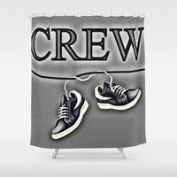 animal crew Shower Curtains featuring Crew by Cs025