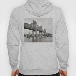 NYC Queensboro Bridge Photograph Hoody