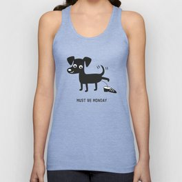 Must Be Monday, Dog Unisex Tank Top