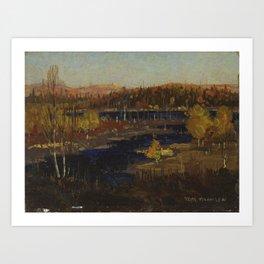 Tom Thomson Autumn Evening, Burnt Land 1912 or 1913 Canadian Landscape Artist Art Print