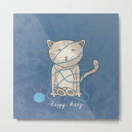 Happy Kity Metal Print