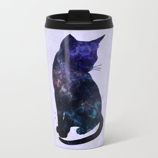 Galactic Cat Metal Travel Mug