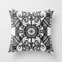 running Throw Pillows featuring Running by GBret