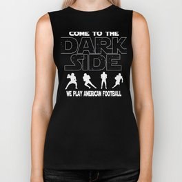 American Football Dark Side Funny Gift Biker Tank