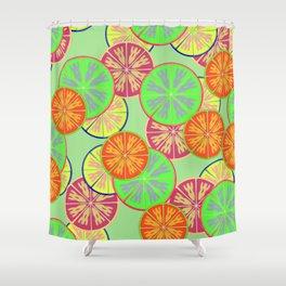 Unique orange fruit Shower Curtain