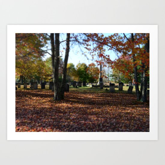 Cemetery In Fall Art Print