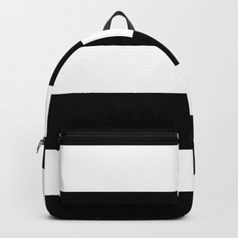 Black and White Large Stripes Backpack