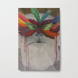 Mask men Metal Print