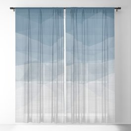 Imperial Topaz - Geometric Triangles Minimalism Sheer Curtain
