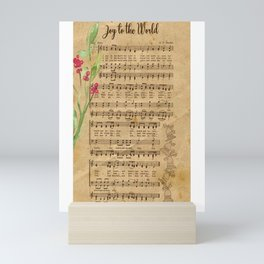 Vintage Christmas Music Neck Gator Joy to the World Mini Art Print