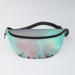 Deep Pastel Aurora Borealis Fanny Pack