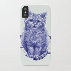 Staring cat Slim Case iPhone X