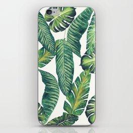 Jungle Leaves, Banana, Monstera II #society6 iPhone Skin