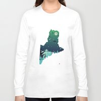 maine Long Sleeve T-shirts featuring Almost, Maine by Typo Negative